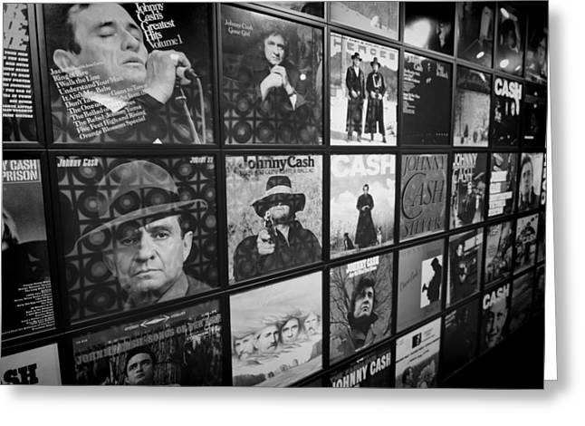 Johnny Cash Records At Johnny Cash Museum Greeting Card by Dan Sproul