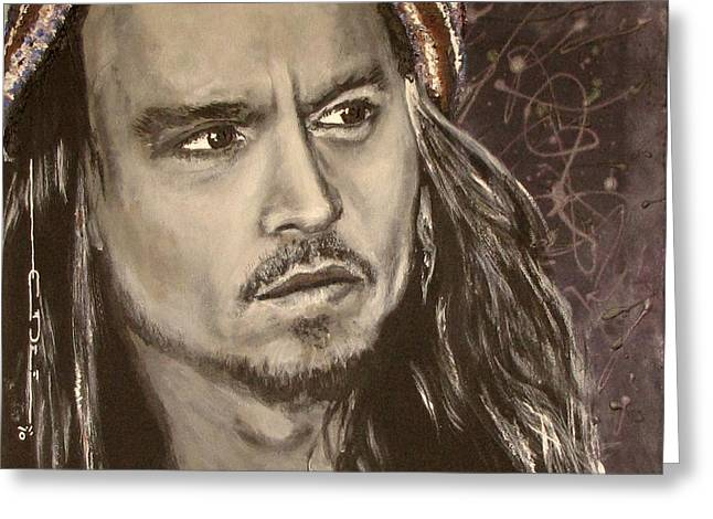 Johnny Depp Greeting Card by Eric Dee