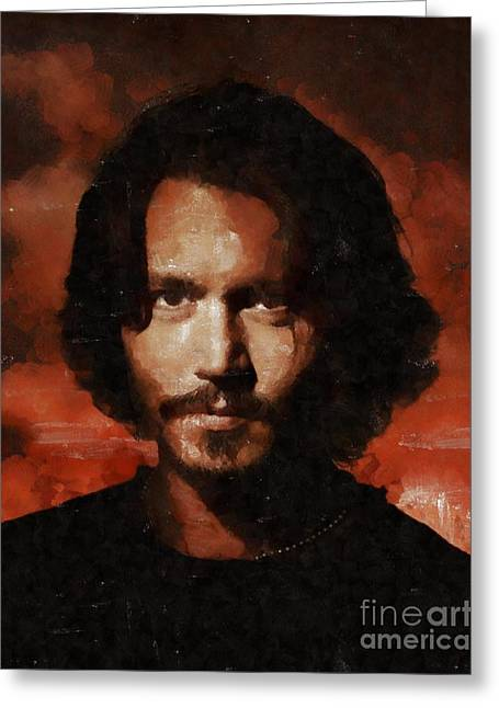 Johnny Depp, Hollywood Legend By Mary Bassett Greeting Card by Mary Bassett