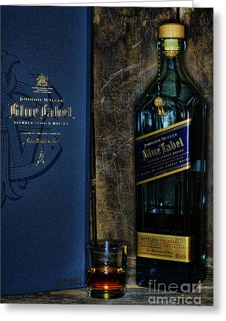 Johnny Walker Blue Label Whisky  Greeting Card