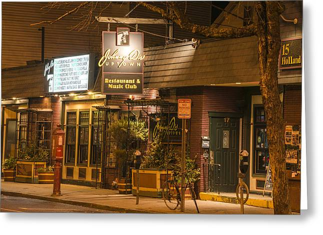 Johnny Ds Music Club In Davis Square Somerville Ma Greeting Card