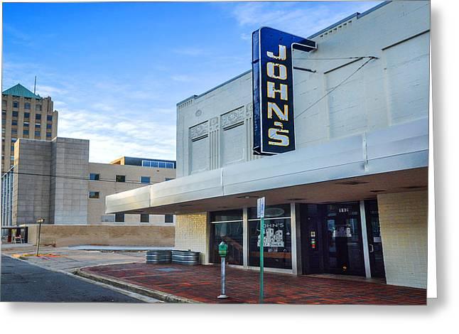 John's Cafe V2 In Birmingham Alabama Greeting Card by Michael Thomas