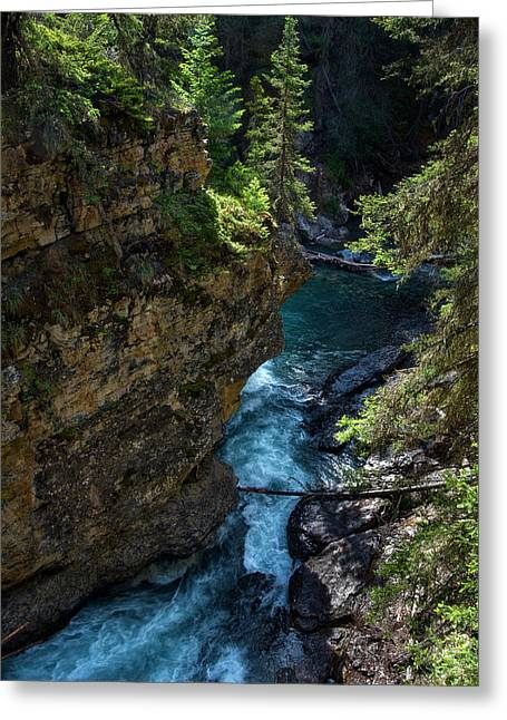 Johnson Canyon In Banff National Park, Canada Greeting Card