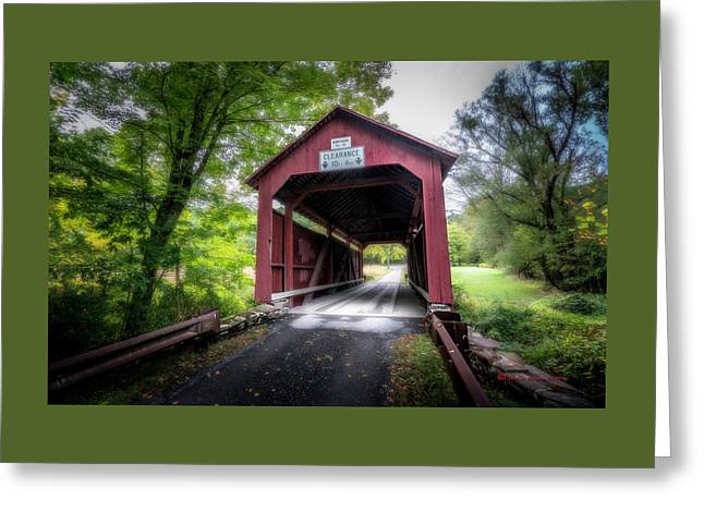 Johnson Covered Bridge Greeting Card by Marvin Spates