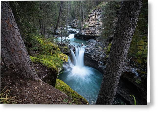 Johnston Canyon Waterfall Greeting Card