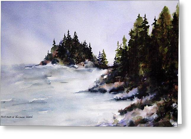Greeting Card featuring the painting Johnstone Strait by Marti Green