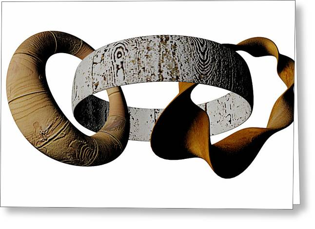 Greeting Card featuring the sculpture Join Circles by R Muirhead Art