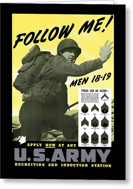 Join The Us Army - Follow Me Greeting Card
