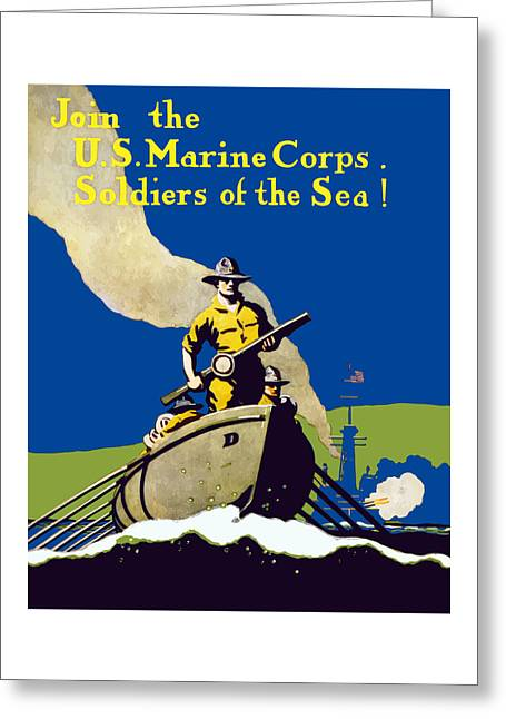 Join The Us Marines Corps Greeting Card