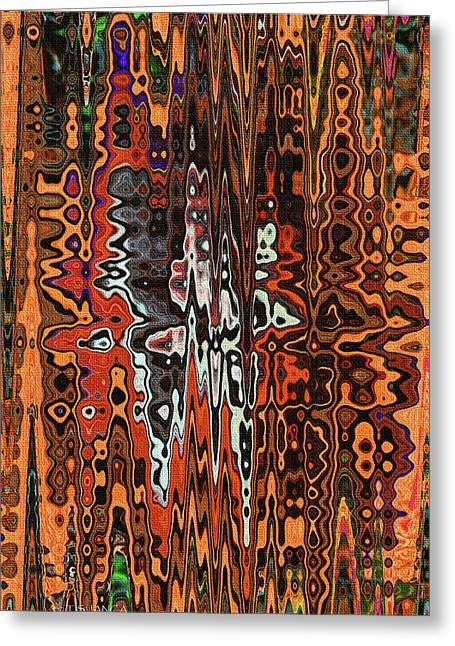 Jojo Abstract Greeting Card by Tom Janca