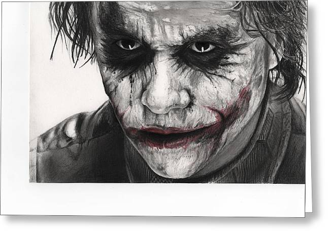 Joker Face Greeting Card by James Holko
