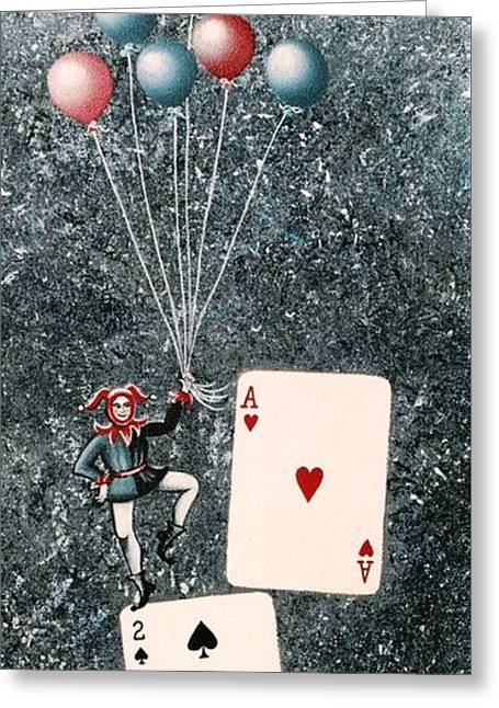 Joker 3 Greeting Card by Graciela Bello
