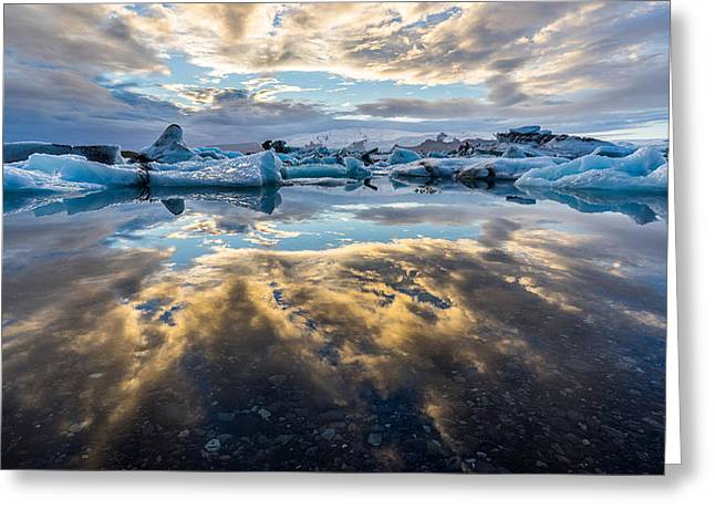 Greeting Card featuring the photograph Jokulsarlon by James Billings