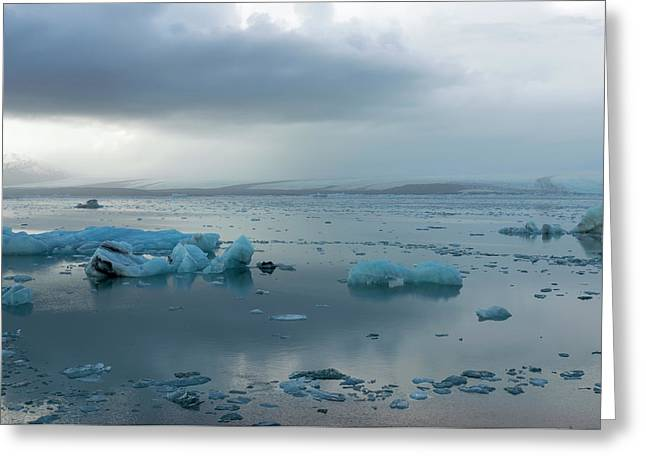 Greeting Card featuring the photograph Jokulsarlon, The Glacier Lagoon, Iceland 1 by Dubi Roman