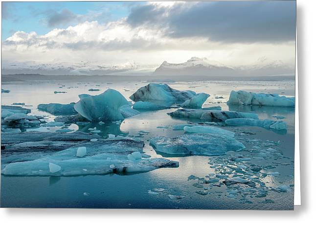Jokulsarlon, The Glacier Lagoon, Iceland 6 Greeting Card