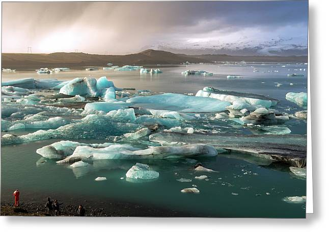 Greeting Card featuring the photograph Jokulsarlon The Magnificent Glacier Lagoon, Iceland by Dubi Roman