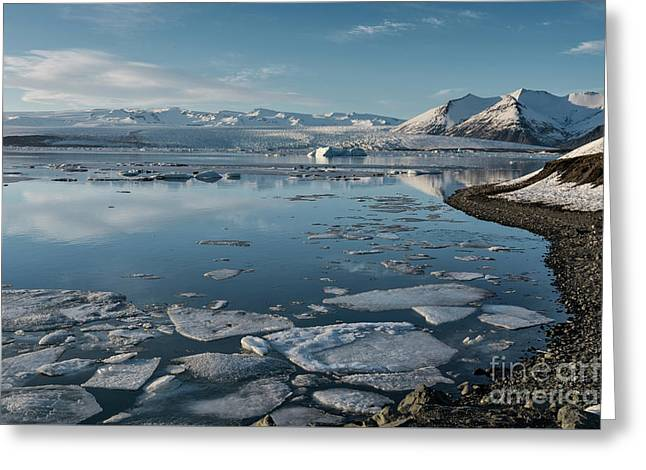 Greeting Card featuring the photograph Jokulsarlon Ice Lagoon - Iceland by Sandra Bronstein