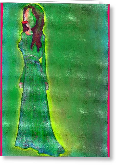 Jolie Green Greeting Card
