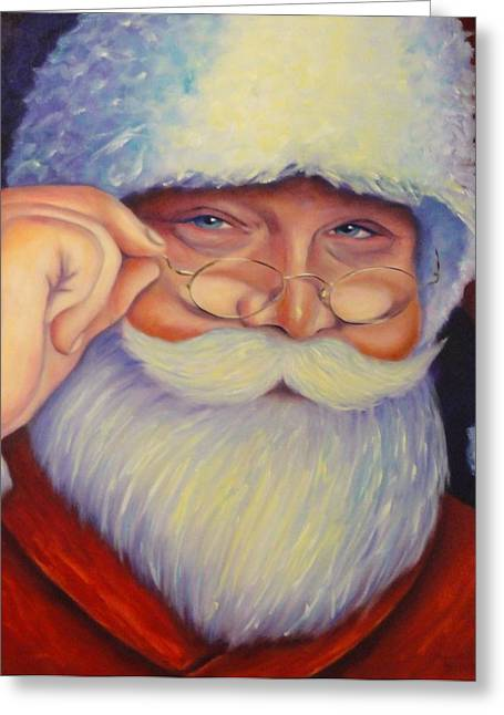 Jolly Old Saint Nick Greeting Card