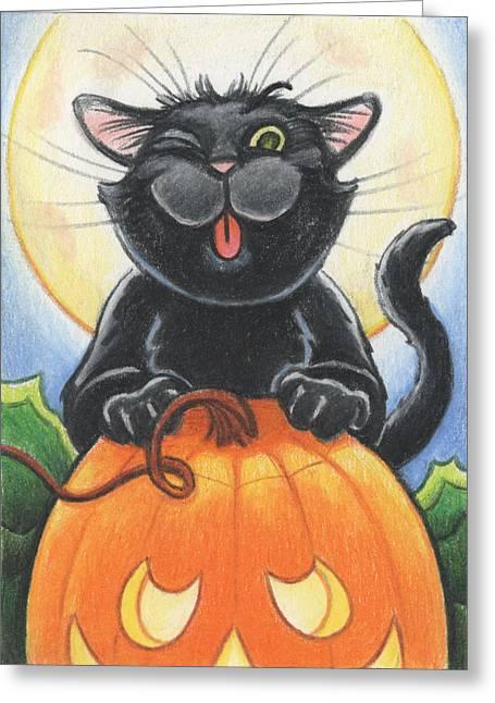 Jolly Ollie Halloween Greeting Card