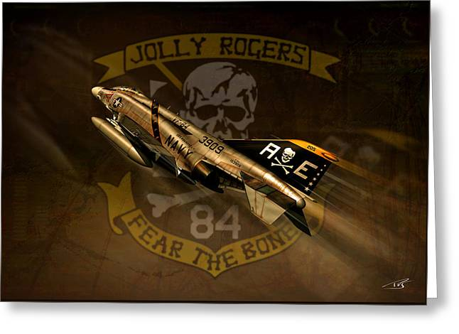 Jolly Rogers Phantom Two Greeting Card