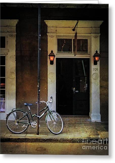 Jolt 709 Bicycle Greeting Card by Craig J Satterlee