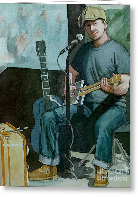 Jon Short-have Blues Will Travel Greeting Card