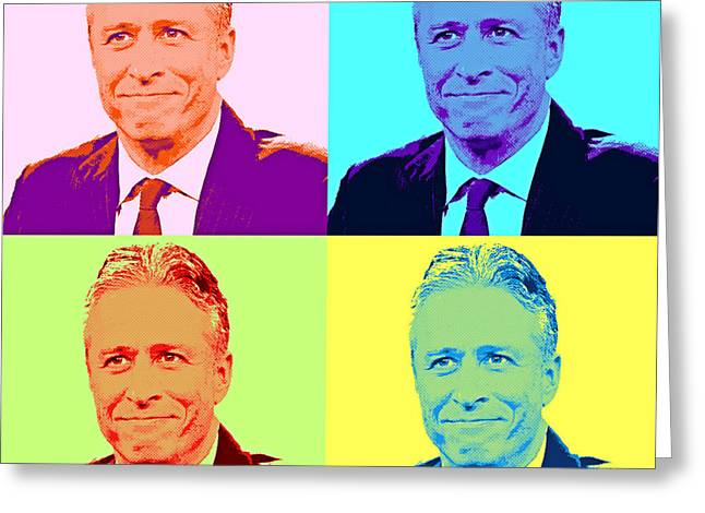Jon Stewart Pop Art Greeting Card by Pd