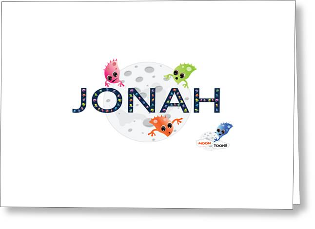 Jonah And The Moon Toons Greeting Card
