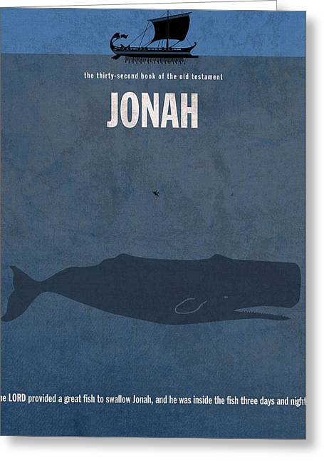 Jonah Books Of The Bible Series Old Testament Minimal Poster Art Number 32 Greeting Card by Design Turnpike