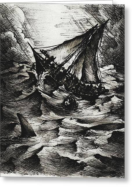 Jonah Greeting Card by Rachel Christine Nowicki