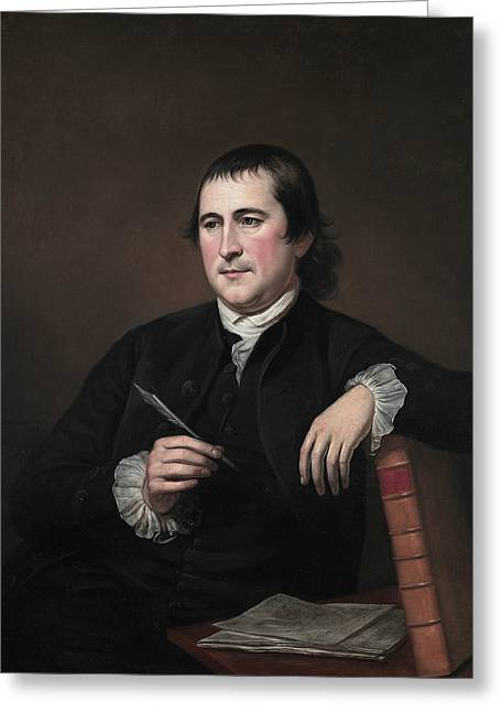Jonathan Dickinson Sergeant Greeting Card by Charles Willson Peale