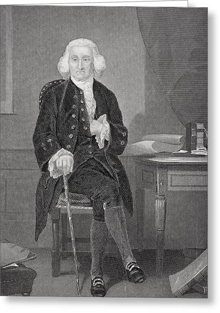 Jonathon Trumbull 1710-1785. Chief Greeting Card by Vintage Design Pics