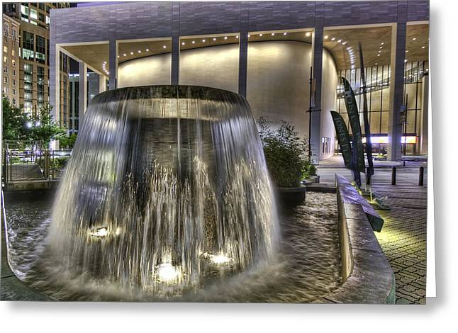 Jones Plaza Fountain Greeting Card by Tim Stanley
