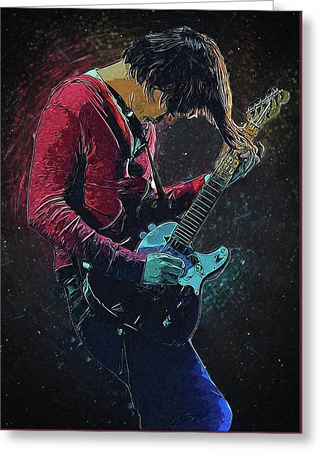 Jonny Greenwood Greeting Card