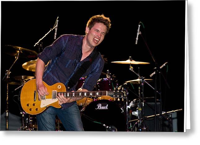 Jonny Lang Rocks His 1958 Les Paul Gibson Guitar Greeting Card