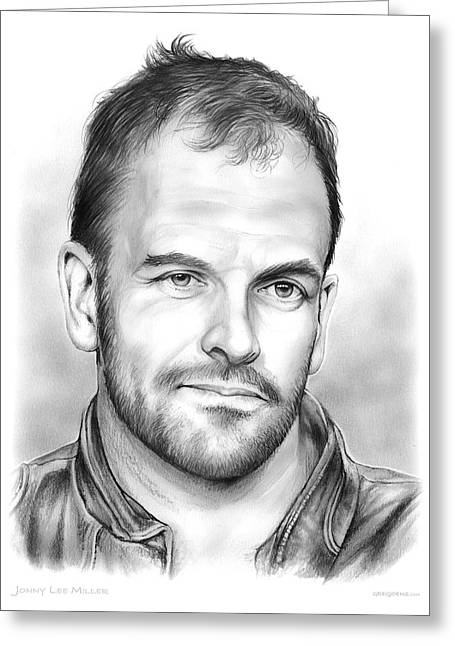 Jonny Lee Miller Greeting Card by Greg Joens