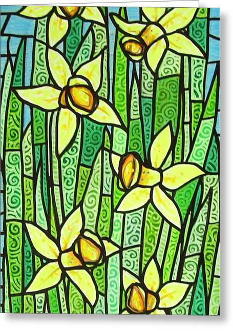Jonquil Glory Greeting Card by Jim Harris