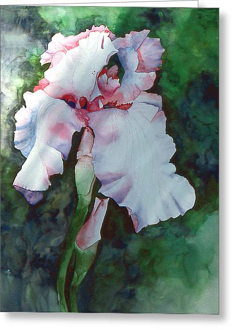 Jon's Iris Greeting Card by Eunice Olson