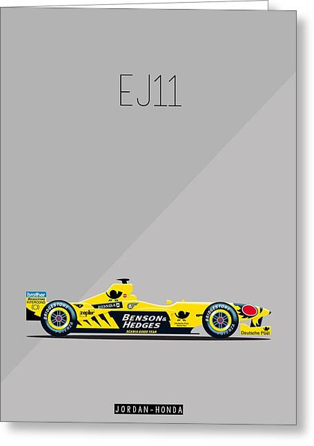 Jordan Honda Ej11 F1 Poster Greeting Card by Beautify My Walls