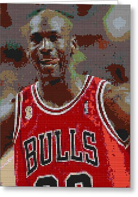 Jordan Lego Mosaic Greeting Card