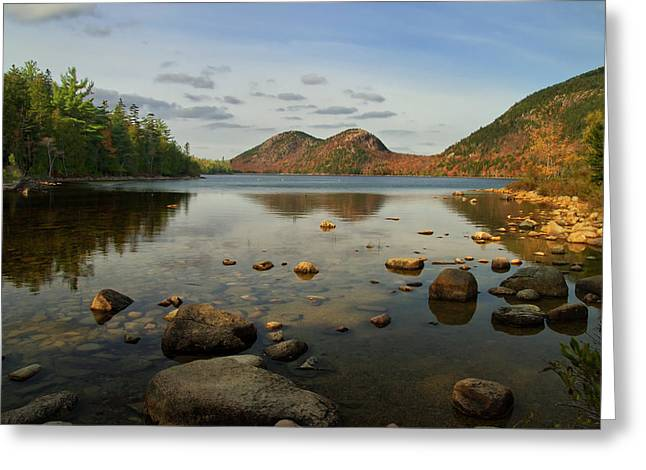 Jordan Pond 1 Greeting Card