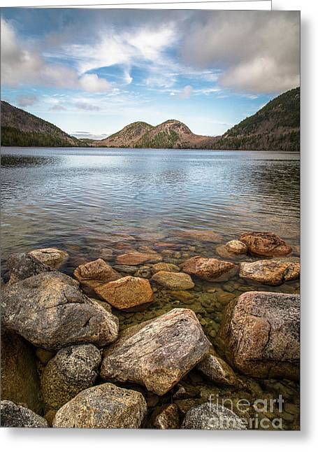 Jordan Pond And The Bubbles Greeting Card by Benjamin Williamson