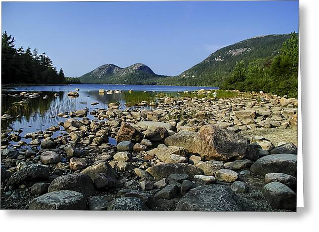 Greeting Card featuring the photograph Jordan Pond No.1 by Mark Myhaver