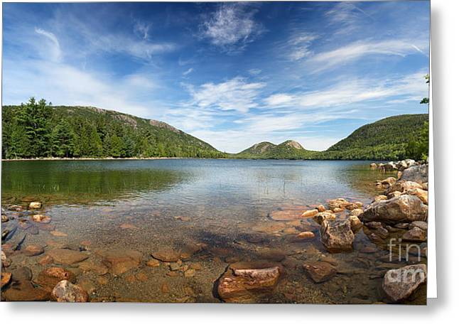 Jordan Pond Panorama Greeting Card by Jane Rix
