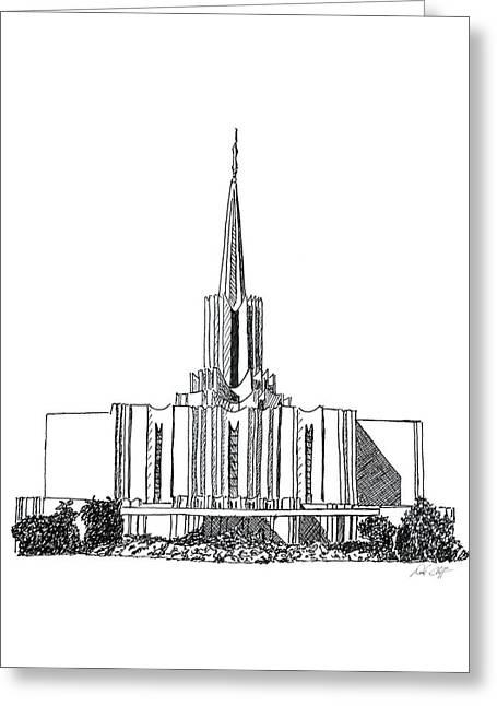 Jordan River Lds Temple Greeting Card