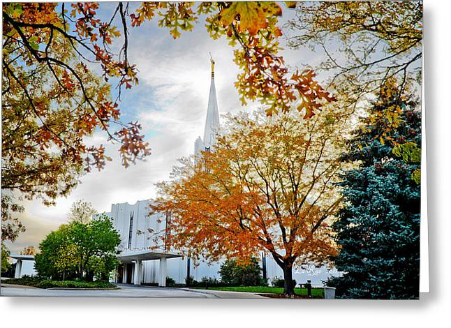 Jordan River Temple Greeting Card