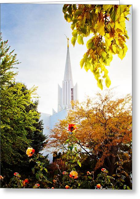 Jordan River Temple Rose Greeting Card