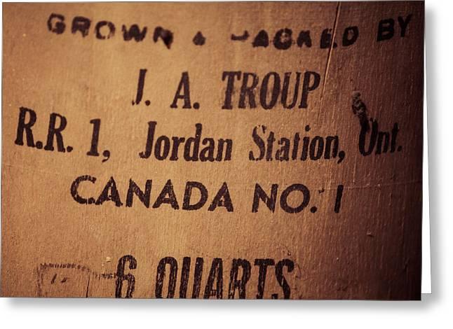 Jordan Station Greeting Card by Chris Bordeleau