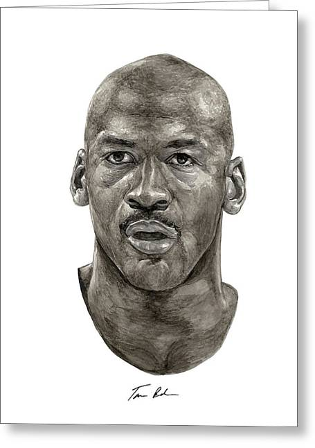 Michael Jordan Greeting Cards - Jordan Greeting Card by Tamir Barkan